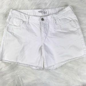 White Old Navy Short with Fringed Hem